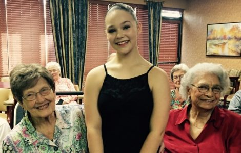 The Fountains at Canterbury's Watermark Kid Christina Wornick, Performs for Residents