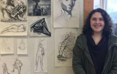 East Village Place Watermark Kid, Jenna Ross, Participates in Gifted High School Artists Program