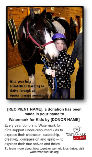Donation Sample Card